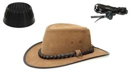 BC BacPac Traveller Hat - Australien Outback Edition - Bark Suede - M (55-56) + Hutablage & Kinnriemchen -