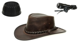 BC BacPac Traveller Hat - Outback Edition - Brown Steerhide M (55-56) + Hutablage & Kinnriemchen -