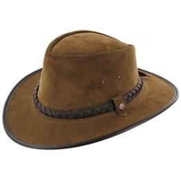 BC Hats Bac Pac Westernhut Wildleder Wildleder Lederhut (S/54-55 - camel) -