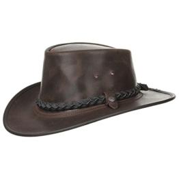 BC Hats Steerhide Bac Pac Traveller Herrenhut Australien (S/54-55 - braun) -