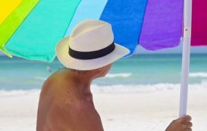 Sonnenhut für Männer am Strand