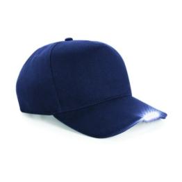Beechfield Baseballkappe mit LED-Licht (One Size) (Marineblau) -