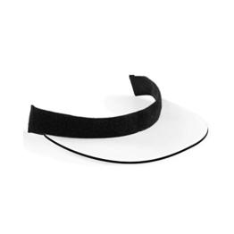 Beechfield Unisex Sublimations Schirm Ersatz für Baseball Kappe (Einheitsgröße) (Schwarz/Weiß) -