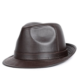 Bellefur LEDER Aussie-Stil Klassischer Westen Outback HUT Braun L -