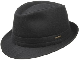 Benavides Wool Trilby in schwarz by Stetson (61) -