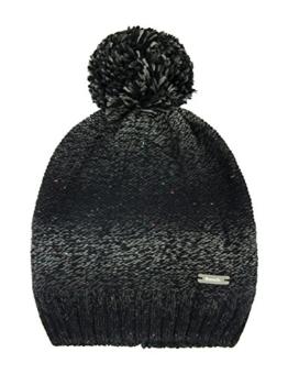 Bench Damen Ohrenschützer Bommelmütze Larrson-B BLWA0377B, one size, schwarz (Jet Black) -
