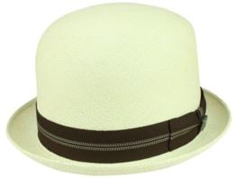 Bigalli Derby Stingy Panamahut Bowler aus Stroh - natur L/58-59 -