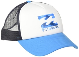 Billabong Herren Podium Trucker Schirmmütze, White/Cyan, One Size -