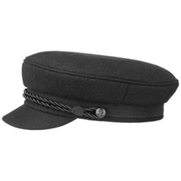 Black Elbsegler Schiffsmütze Schildmütze Mütze Kaitänsmütze Lierys Elbsegler Kappe (58 cm - schwarz) -