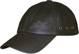 Black Jungle Leather Cap - Biker Kappe Braun -