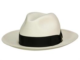 Borsalino 140340 Panamahut Fedora aus Panamastroh - natur/black 60 -