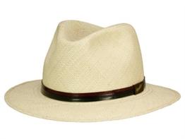 Borsalino 140364 Panama Quito Panamahut Traveller aus Stroh - natur/black 59 -