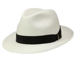 Borsalino Bogart Panamahut Fedora aus Stroh - natur 58 -