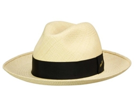 Borsalino Classico Panama Hut mit blauem Hutband - natur 56 -