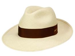 Borsalino Classico Panamahut Fedora aus Panamastroh - natur 59 -