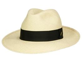 Borsalino Classico Panamahut mit schwarzem Hutband aus Panamastroh - natur 56 -
