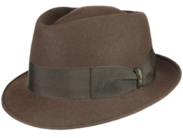 Borsalino Diamante Player Hut Filzhut aus Haarfilz - braun 56 -