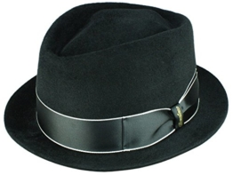 Borsalino Diamond Brim-up Trilby Hut - schwarz 61 -
