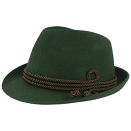 Breiter - Moderner kleiner Trachtenhut für Herren und Damen in zwei Farben - grün 58 -
