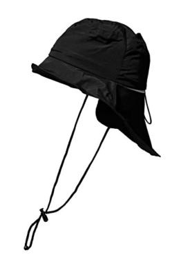 Brigg Südwester Regenhut Regenschutz Wetterschutz schwarz unisex S,M,L,XL (XL 60/61) -