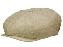 Brixton Brood Ballonmütze Newsboy Cap aus Leinen - light brown L/59-60 -