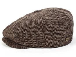 Brixton Brood Ballonmütze Schirmmütze Newsboy Sportmütze - brown/khaki herringbone L/59-60 -