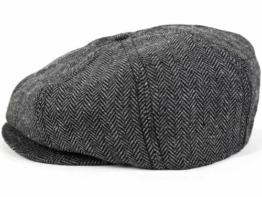 Brixton Brood Ballonmütze Schirmmütze Newsboy Sportmütze - Grey (M/57-58, Grey) -