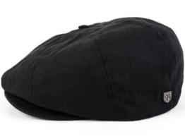 Brixton Brood Ballonmütze Schirmmütze Newsboy Cap Sportmütze - black herringbone twill L/59-60 -