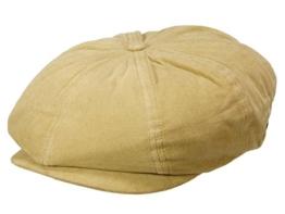 Brixton Brood Schirmmütze Newsboy Ballonmütze aus Baumwolle - light tan M/57-58 -
