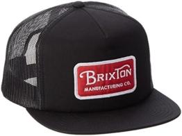 Brixton Cap Grade Mesh, Black/Red, One Size, BRIMCAPGRAM -
