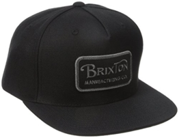 Brixton Cap Grade Snapback, Black, One Size, BRIMCAPGRA -