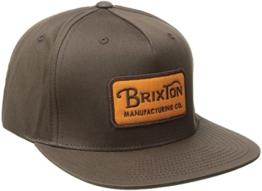 Brixton Cap Grade Snapback, Brown, One Size, BRIMCAPGRA -