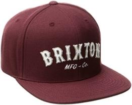 Brixton Cap HAROLD Snapback  Maroon, One Size, -