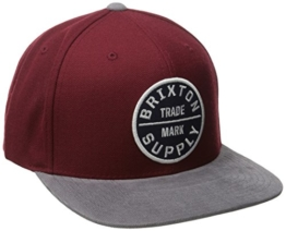 Brixton Cap OATH 3  Burgundy/Grey, One Size, -