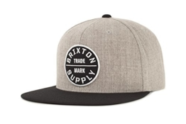 Brixton Cap OATH 3  heather grey/black, One Size, BRIMCAPOAT3 -