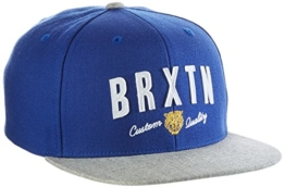 Brixton Cap Ronan Snapback, Royal/Heather Grey, One Size, BRIMCAPRONS -