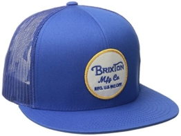 Brixton Cap Wheeler Mesh, Washed Royal, One Size, BRIMCAPWHE -