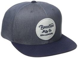 Brixton Cap Wheeler Snapback, Light Blue/Navy, One Size, BRIMCAPWHES -