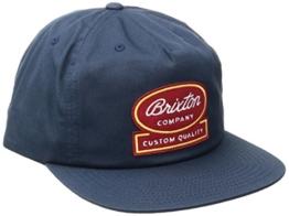 Brixton Dale Snapback Cap Basecap Baseballcap Kappe Baseballkappe Flat Brim Brixton pet base cap (One Size - dunkelblau) -