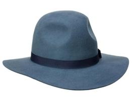 Brixton Dalila Flapper Schlapphut aus Wollfilz - blue S/55-56 -