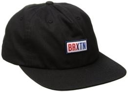 Brixton Hayward Snapback Cap Flat Brim Flatbrim Basecap Baseballcap Kappe Käppi Cap Basecap (One Size - schwarz) -