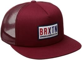 Brixton Hayward Trucker Cap - Burgunderrot - Einstellbar -