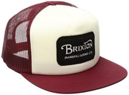 Brixton Herren Grade Mesh Cap, White/Burgundy, One Size -