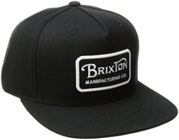 Brixton Herren Grade Snapback Cap, Black/White, One Size -