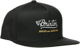Brixton Herren Mach Snapback Cap, Black, One Size -
