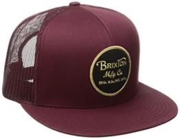 Brixton Herren Wheeler Mesh Cap, Maroon, One Size -