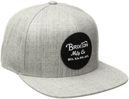 Brixton Herren Wheeler Snapback Cap, Heather Grey, One Size -