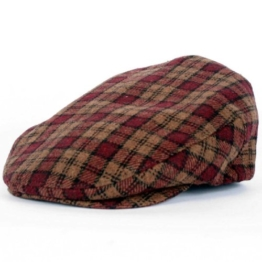 Brixton Uni Kappe Hooligan, gold/burgundy plaid, XL, 9-312-00005-0924 -