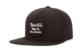 Brixton Unisex Kappe Wheeler Snapback WHEELER Snapback  black, One Size, BRIMCAPWHES -