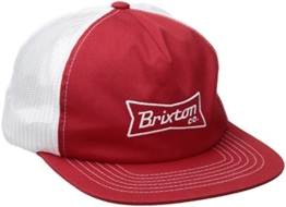 Brixton Unisex Pearson Mesh Cap, Red/White, One Size -